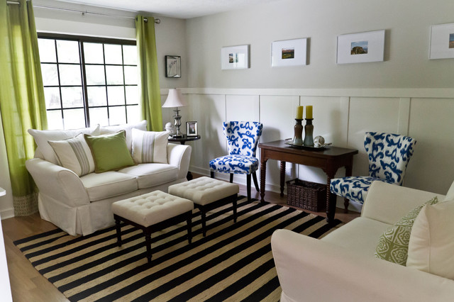 eclectic family room by Karen Spiritoso Home Designs By Karen