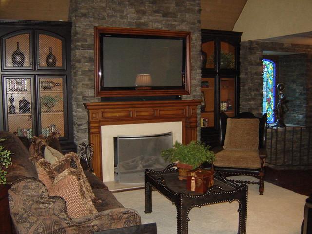 Tv Over Fireplace Entertainment Center