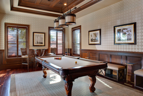 15 Homes With Amazing Pool Tables That Are Anything But An  : traditional family room from www.huffingtonpost.com size 500 x 334 jpeg 83kB