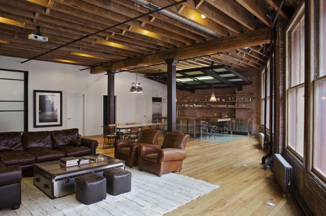 Jane Kim Design Industrial Family Room By Jane Kim
