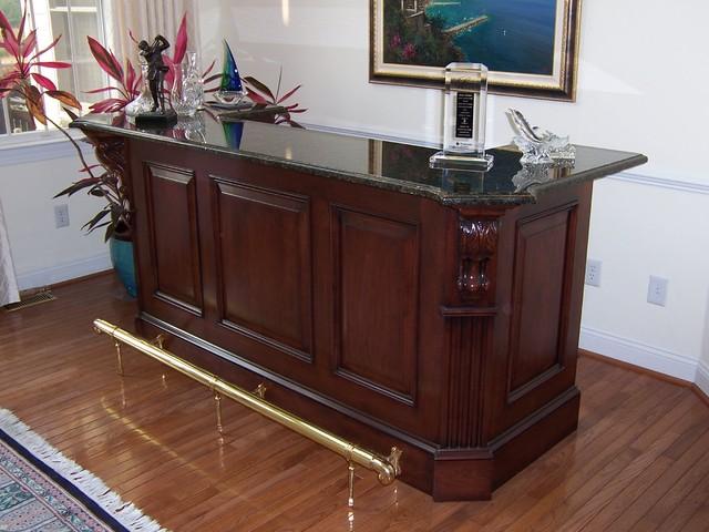 Freestanding Bar Traditional Family Room Philadelphia