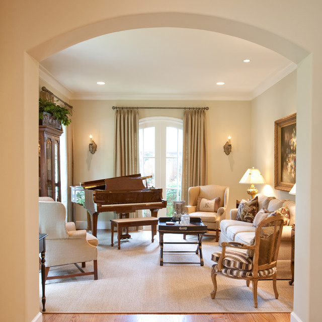French Country Traditional Family Room Houston By