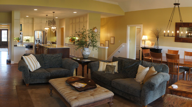 French Country Traditional Family Room Indianapolis