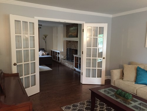 French Doors and Crown Moulding