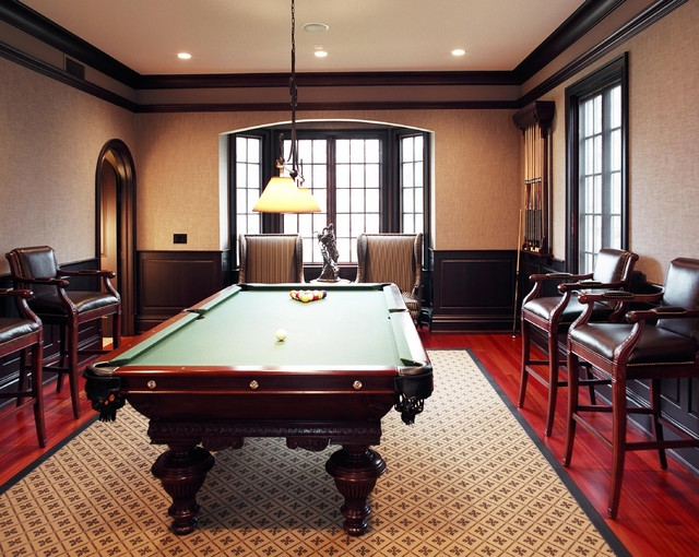 French Manor Pool Table Traditional Family And Room