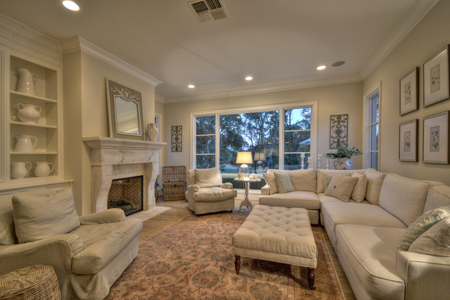 French Provincial Traditional Family Room Sacramento By - Family room in french