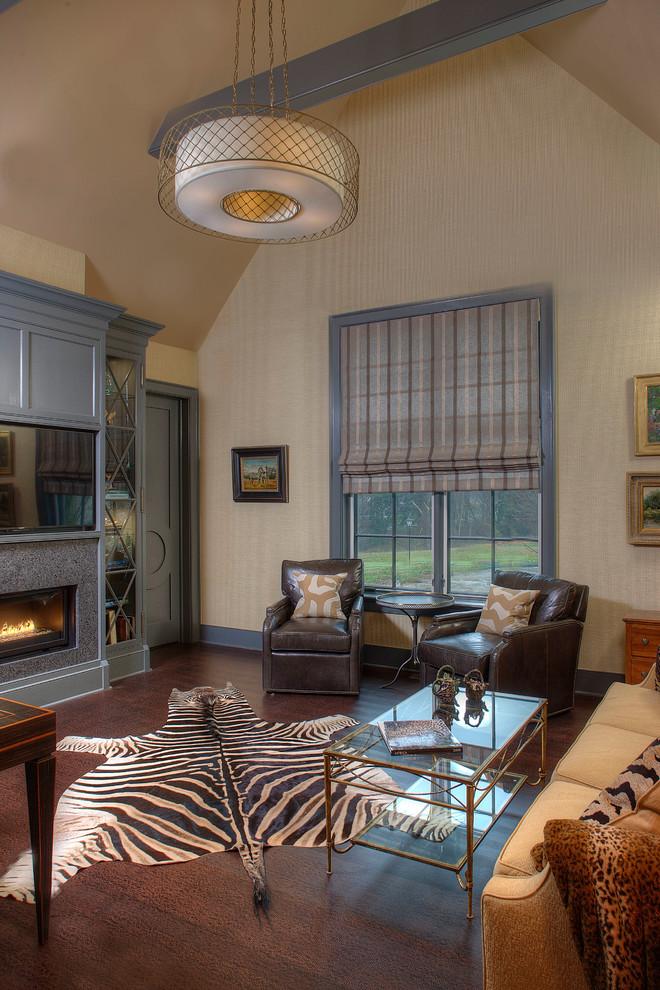 Transitional family room photo in Philadelphia