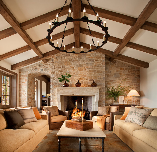 Awe Inspiring French Style Home Traditional Family Room San Francisco By Largest Home Design Picture Inspirations Pitcheantrous