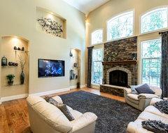 Frontenac, MO Custom Home contemporary-family-room