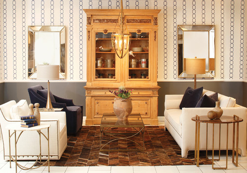 Exceptionnel Gabby Atlanta Furniture Showroom: Transitional Furniture Vignette With  Vintage Nailhead Swivel Chair, Unique Find Antique Cabinet, Transitional  Coffee Table ...