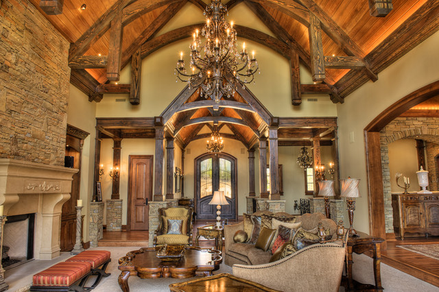 Gabriel Builders rustic-family-room