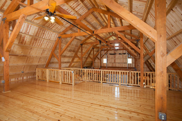 Gambrel party barn Rustic style attic design a corner full of passion