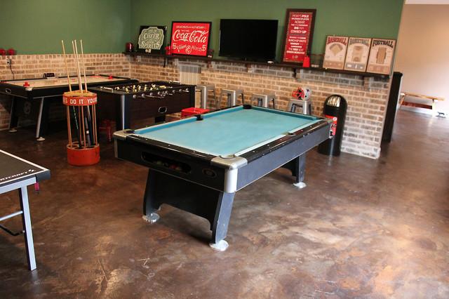 garage game room ideas - Game Room Conroe Pool House Garage Conversion