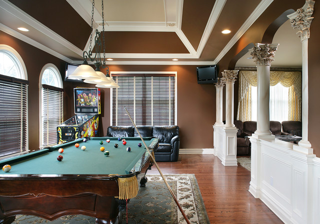 Game room traditional family room new york by - Family game room ideas ...