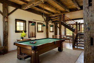 Game Room - Rustic - Family Room - New York - by Crisp Architects