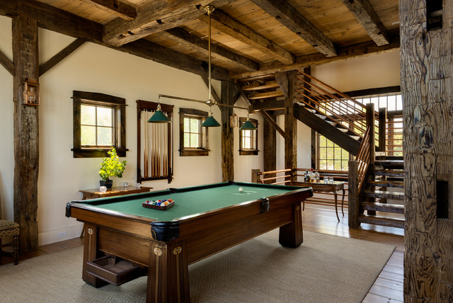 Game Room Rustic Family Room New York By Crisp