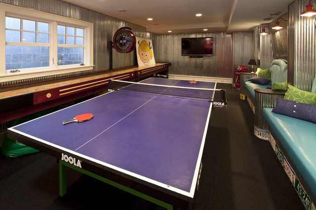 Example Of A Classic Game Room Design In Minneapolis
