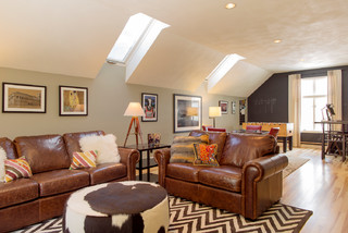 Game Room Makeover - Contemporary - Family Room - Boston ...