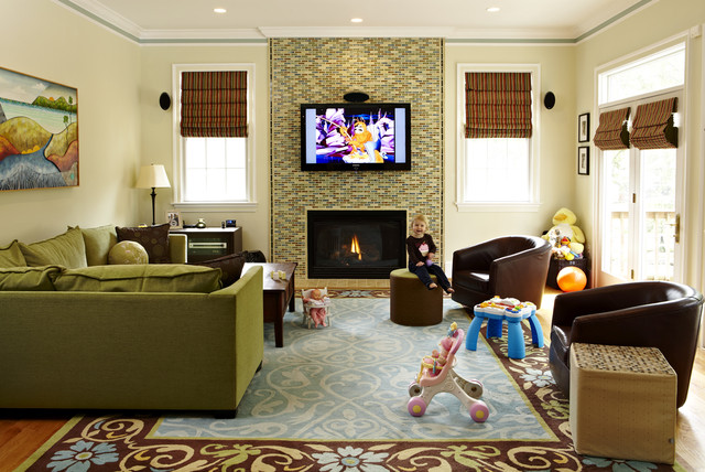 eclectic family room by Designing Solutions