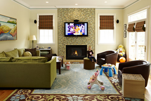 5 ways to create a kid friendly family room home stories for Kid friendly family room design