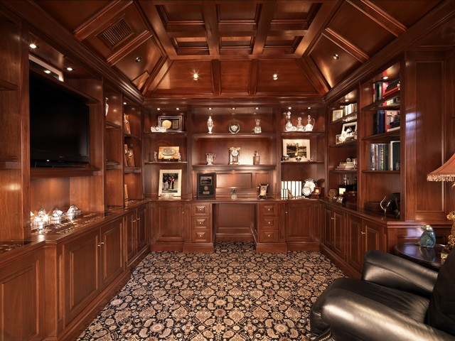 Gentleman S Study Traditional Family Room Miami By