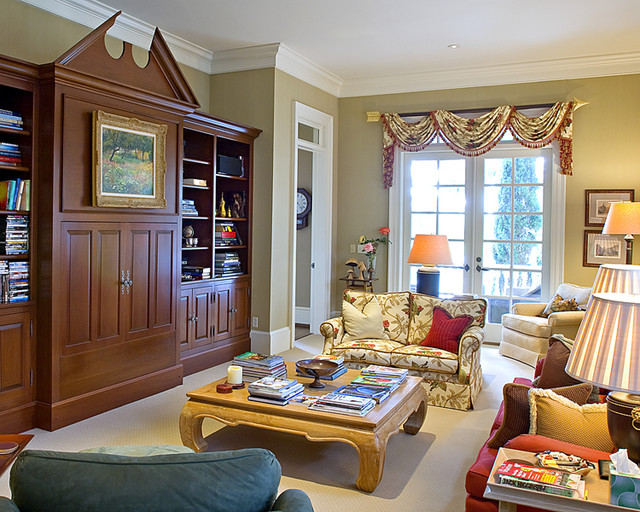 Georgian built-in used for audio visual - Traditional - Family Room - charleston - by ...