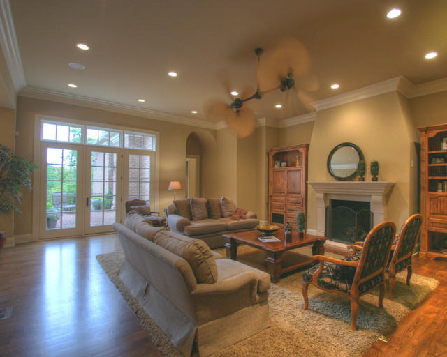 Georgian Charm with a Tuscan Flare: Family Room traditional-family-room