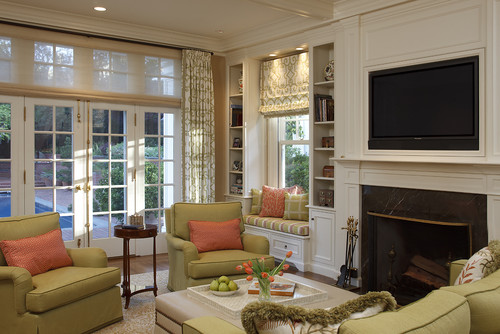 Why Built-in Cabinets Work Flanking a Fireplace -