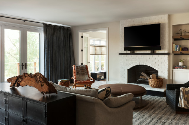 Gladwyne Renovation - Transitional - Family Room - Philadelphia - by BLACK & POOLE