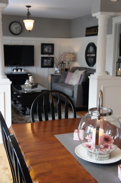 Going Grey with a touch of pink.. eclectic-family-room