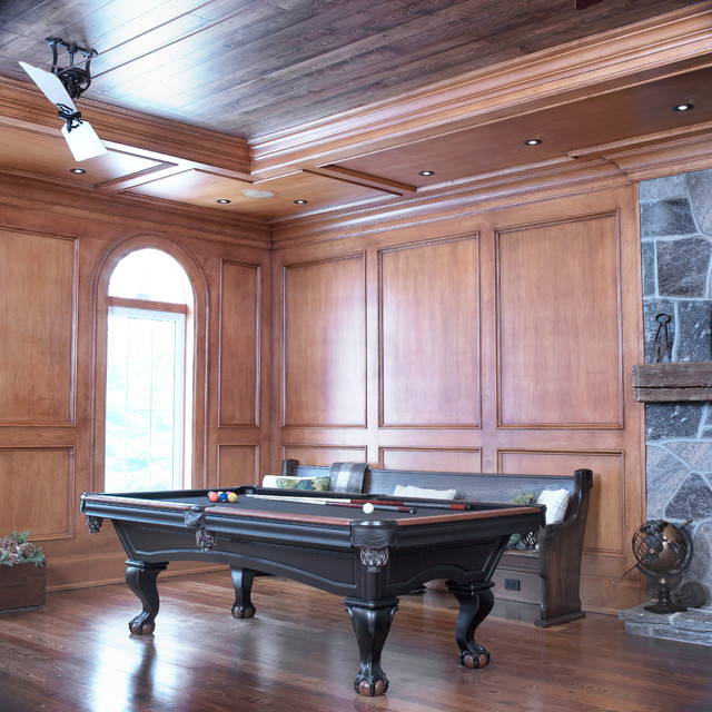 Golf Club Renovation traditional-family-room