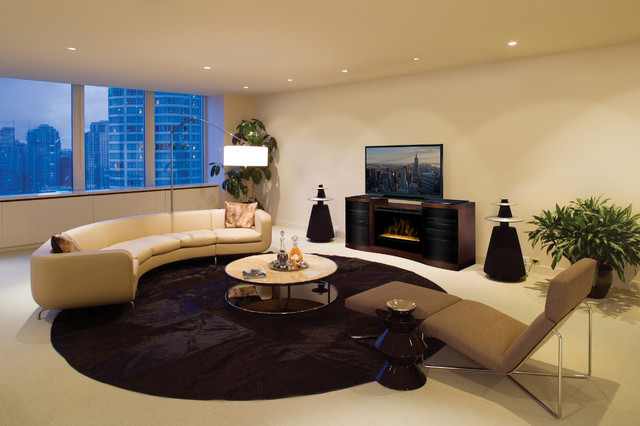 Gorgeous Living Rooms Contemporary Family Room Other Metro By Electric Fireplaces Direct