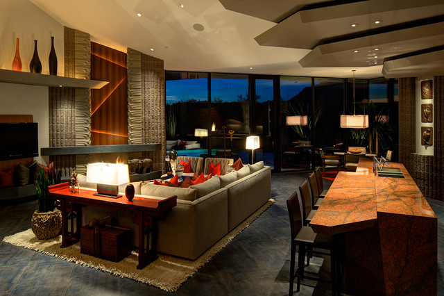 Riverstone Modern Family Room Houston By The Design As Well Lake House With