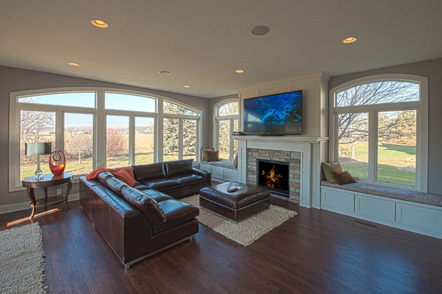 Great room addition living room minneapolis by enerjac construction inc - Maximizing design of living room by determining its needs ...