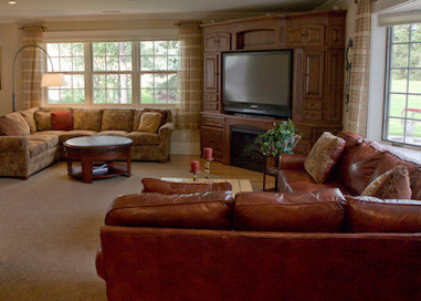 Great room addition traditional family room for Great room addition plans