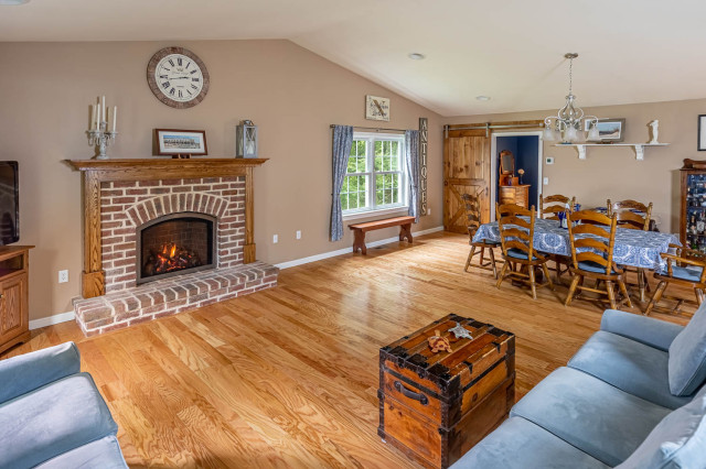 Great Room And Master Bedroom Addition With Sliding Barn Door And Oak Hardwood American Traditional Family Room Philadelphia By All Renovation Design Llc Houzz