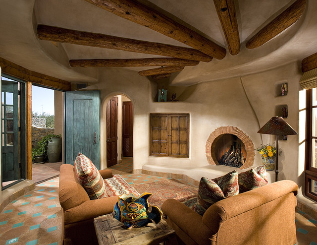 Great room rustic-family-room