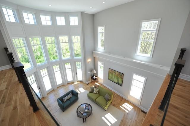 Great Room from Mezzanine contemporary-family-room