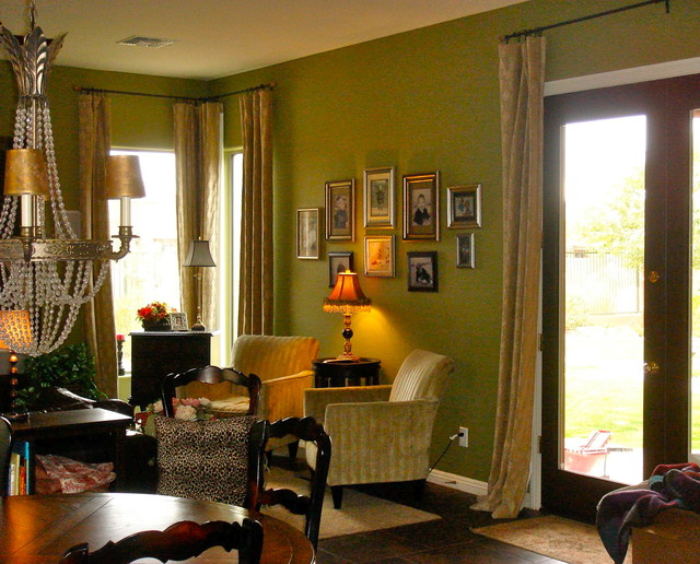 Great Room in Green Annie eclectic-family-room