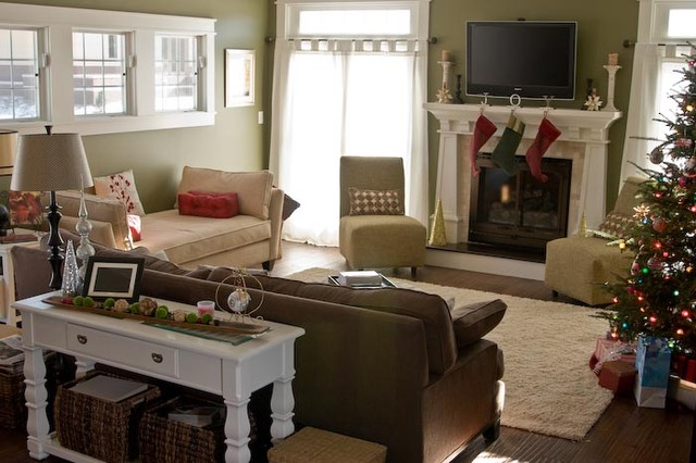 Inspiration for a craftsman family room remodel in Indianapolis
