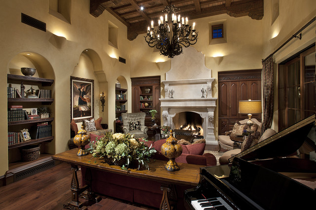Great Rooom mediterranean family room
