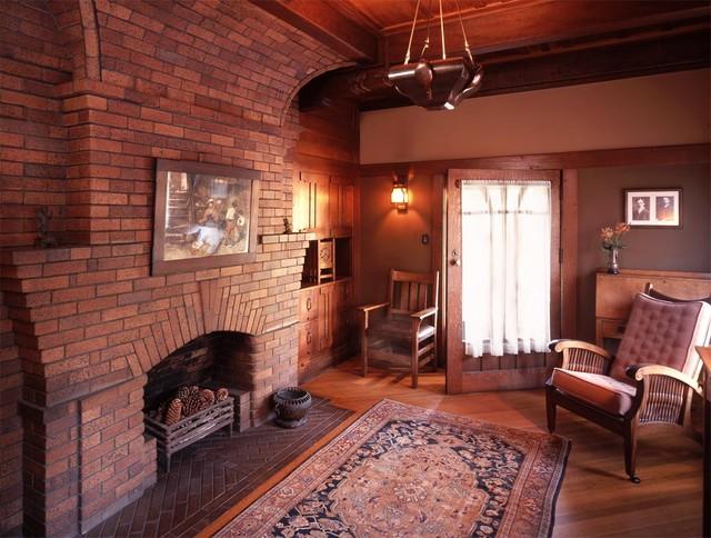 Greene And Greene Gamble House, Pasadena 1908 Craftsman Family Room