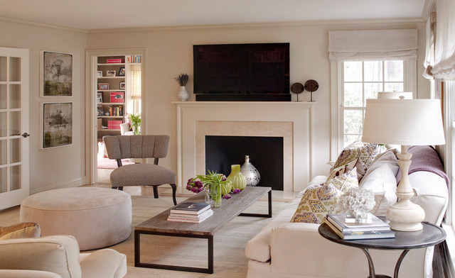 Greenwich family home eclectic-living-room