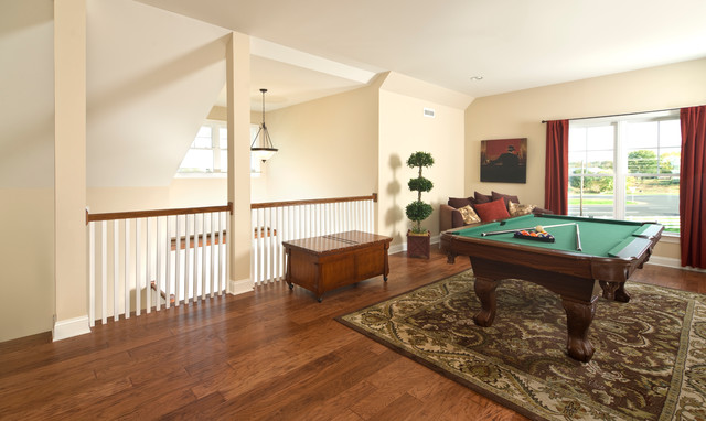 Greenwood Craftsman Model Game Room Beracah Homes