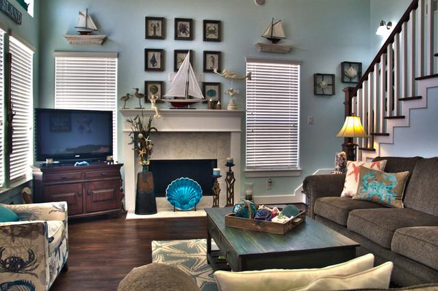 Gulf dr terramar galveston tx beach style living room for Texas themed living room