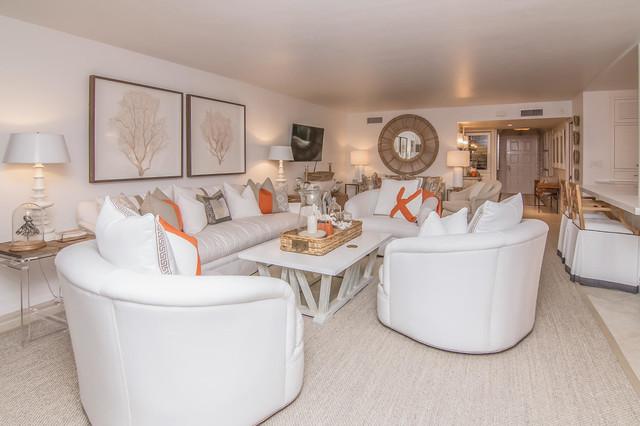 Family room - beach style family room idea in Miami