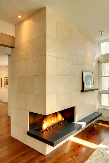 Gunderson fireplace modern family room