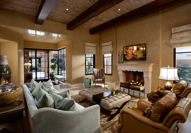 hallmark interior design llc mediterranean family room
