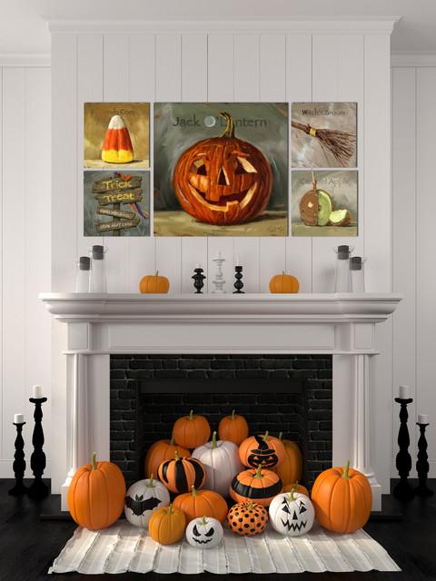Halloween Pumpkin Fireplace