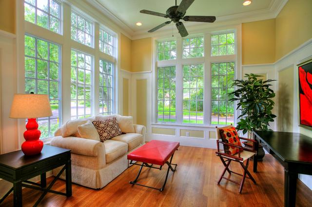 Hammond-Stallworth Residence tropical-family-room